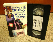 SEWING WITH NANCY ZIEMAN instructional Made For Travel VHS Mary Mulari 2002 sew