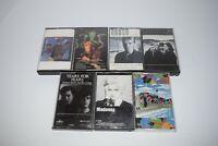 Lot of 7 80's Cassette Tapes New Wave & Pop Music:  Madonna, U2, Prince, Sting,