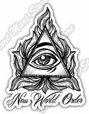 "New World Order Eye Providence Illuminati Car Bumper Vinyl Sticker Decal 4""X5"""