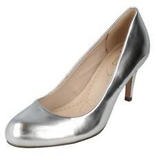 Scarpe da donna spillo casual in argento