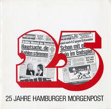 """""""25 JAHRE HAMBURGER MORGENPOST"""" Album-photos + LP 33 tours allemand 1974 (MINT)"""