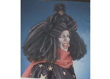 Perruque Sorcière Noire et Blanche volumineuse crépée [2931] deguisement fetes
