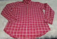 Scott Barber Mens Medium M Pink Yellow Plaid Shirt Long sleeve Button Down L-4