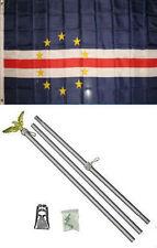 3x5 Cape Verde Flag Aluminum Pole Kit Set 3'x5'