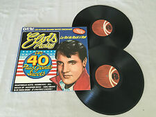 ELVIS PRESLEY LES 40 PLUS GRANDS SUCCES GATEFOLD RARE 1976 UK PRESS DOUBLE LP