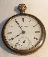 Vintage Antique Elgin  Sun Dial Pocket Watch As Is Parts