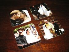 Royal Wedding Harry and Meghan Markle COASTER Set