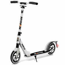 Hurtle Renegade Foldable Teen and Adult Commuter Kick Scooter, White (Open Box)