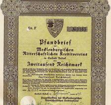 Original War-time Municipal Bond Embossed Reichs Eagle seal (Mecklenburg)