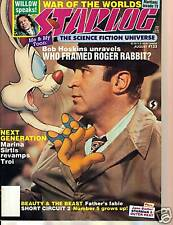 WoW! Starlog #133 Who Framed Roger Rabbit?! Willow! War Of The Worlds! Starman!