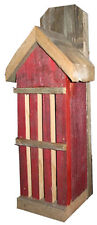 RED Rustic Butterfly House- Locally Made from Recycled Fence Material for Garden