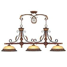 Livex 3 L Villa Verona Bronze Lighting Kitchen Island Lighting Fixture 8584-63