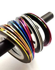 ZIERSTREIFEN Stripes Tape Nail Art ++selbstklebend++  0,5 mm Streifen
