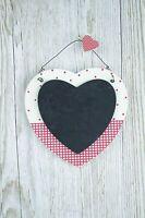 Small Heart Chalkboard Red & Cream Polka Dot Wedding Favours Kitchen Memo F0619A