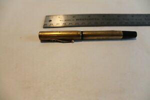Waterman's Ideal Fountain Pen 14k solid gold over BHR (black hard rubber)