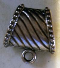 10 elegant scarf jewelry slider bail ring pendant charm slide tube necklace bail