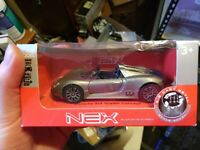 Welly NEX Scale Die Cast Model PORSCHE 918 SPYDER CONCEPT GREY (Pull Back & Go)