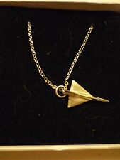 """Convair F-106 Delta Dart c121 Pewter On A 20"""" Silver Plated Curb Chain Necklace"""