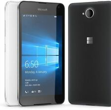 New Microsoft Lumia 650 Black 16GB Dual Sim 8MP NFC GPS 4G Unlocked Smartphone