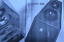 Genesis, 8 pagine, con Tech. dati, Genesis 500 HIFI TEST immagine