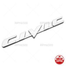 For 06 11 Honda Civic Rear Trunk Lid Chrome Letter Logo Badge Emblem Sport Fits 2012 Honda Civic