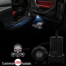 2x Resident Evil Gas Mask Skull Logo Car Door LED Laser Projector Shadow Light