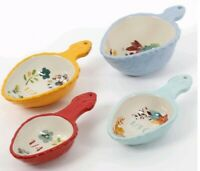 """Pioneer Woman ~ """"Willow"""" ~ Set of Four (4) Stoneware ~ Measuring Cups"""