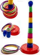 """WolVol 18"""" Colorful Quoits Ring Toss Game Set for Kids"""
