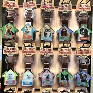 Dog Lover House Keyring Keys Christmas stocking present Birthday Gift- breeds