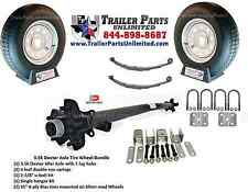 "3.5k trailer kit, 2 15"" St205/75D15 Tire Wheel Combos, 3500# Utility Axle 89*74"