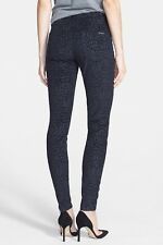 $209 Hudson Jeans Barbara High Waisted Super Skinny Black Velveteen NEW NWT 25