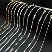 16-30inch 925 Sterling Silver Chain Necklace Wholesale for Women Men Hot Sale