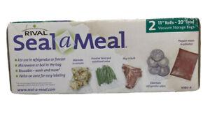 "Rival Seal-a-Meal 2 11"" Rolls - 20' VSB2-6 Vacuum Storage Bags NIB"