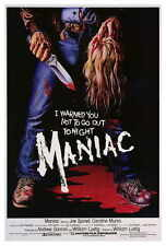 "MANIAC Movie Poster [Licensed-NEW-USA] 27x40"" Theater Size 1980"