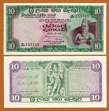 New listing Ceylon, Sri Lanka 10 Rupees 1975 Pick-74c Unc