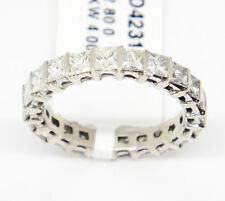 Custom 14k White Gold VS2-Si1,H-J, 2.80tcw, Princess Cut Diamond Eternity Band,7