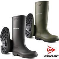 Mens Ladies Dunlop CALF HIGH Wellingtons Wellies Ankle Rain Mucker Boots Shoes