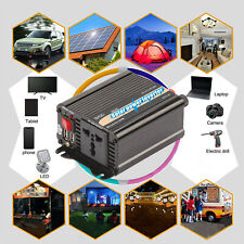 600/800/2000W Car Power Inverter 12V to 220V-240V Pure Sine W-ave Converter L4Y0