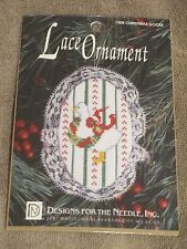 DESIGNS FOR THE NEEDLE COUNTED CROSS STITCH #1208 CHRISTMAS GOOSE LACE ORNAMENT