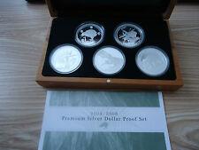 Neuseeland 5 x 1oz Silber Kiwi Proof Set 2004-2008 - RAR - nur 500 Stk