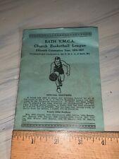 Bath Y.M.C.A. Church Basketball League 1936-37 Pamphlet