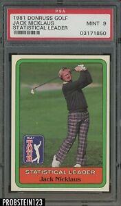 1981 Donruss Golf SETBREAK Statistical Leader Jack Nicklaus PSA 9 MINT