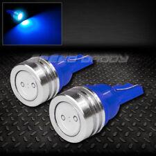 PAIR HIGH POWER LED T10 194 168 W5W BLUE INTERIOR DOME WEDGE LIGHT BULB/BULBS