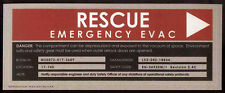STAR TREK REPRO ENTERPRISE RESCUE EMERGENCY EVAC STICKER SIGN . NOT DVD