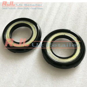 DRL ROUND BRIGHT WHITE Ready to Fit Black Gloss Fog Lights Fit St Facelift