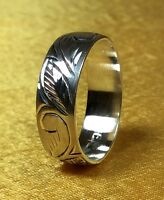 Vintage 925 Sterling Silver Band Ring Size 6 3/4 Fine Jewelry