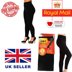 Ladies Womens Winter Warming Fleece Lined Thick Thermal Footless Tights S-XXL
