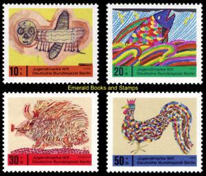 EBS Berlin 1971 Youth - Children's Drawings Kinderzeichnung Michel 386-389 MNH**