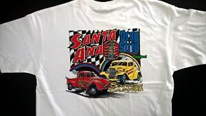 Santa Ana Southern California Drag Strip T-Shirt Willys Ford Saturday Sunday