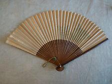 Eventail début 20ème siècle Japon décor floral, fan ventiglio